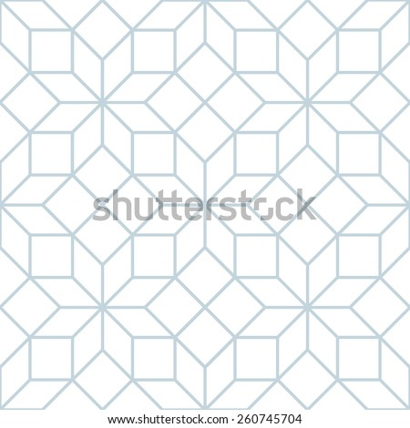 Vector seamless soft white geometric trellis tracery pattern - stock vector