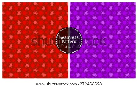 Vector Seamless Sparkle Pattern Background Set