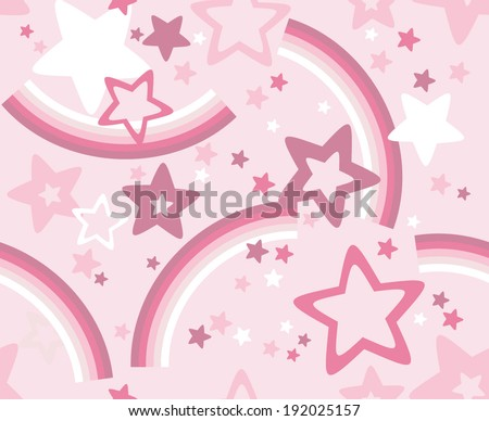 vector seamless stars and rainbows print