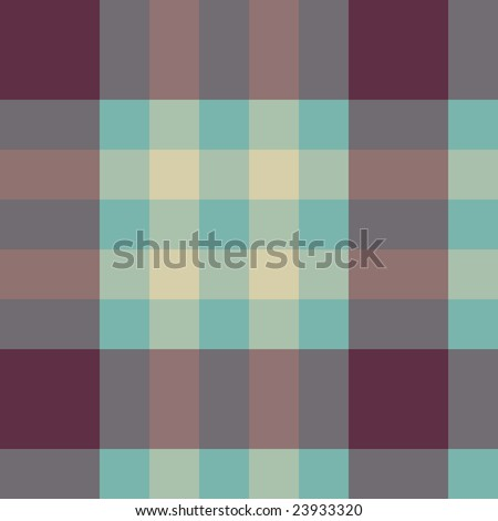 Vector seamless tartan pattern in retro colours