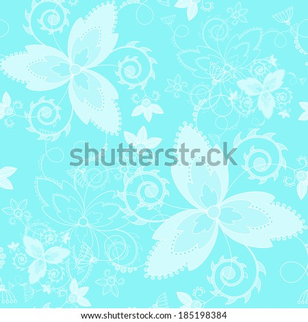 Vector seamless texture. Floral endless background with decorative elements. Vector background for use in design. Use for wallpaper, fabrics, packaging, textile