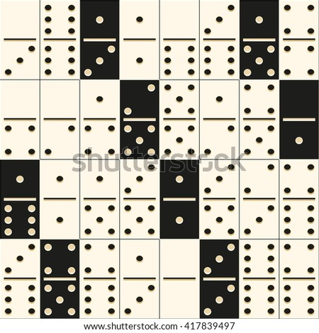 vector seamless texture of black and white domino tiles. it can be used for wrapping paper, wall paper, fabrics, etc.
