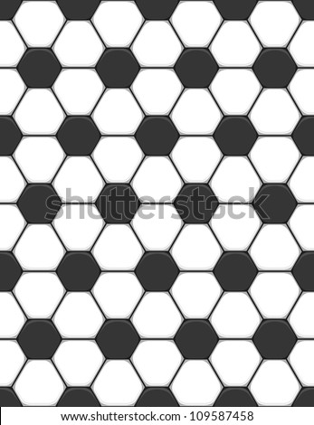 Vector seamless texture on a soccer theme - stock vector