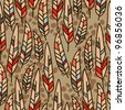 vector seamless texture with feathers - stock