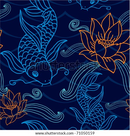 Vector Seamless Tile (pattern, wallpaper, background) - stock vector