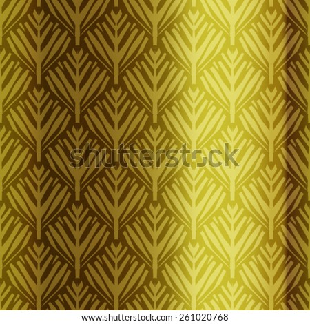 Vector Seamless Tree With Metal Background Pattern - stock vector