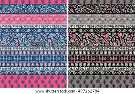 vector seamless tribal pattern. ethnic motifs in striped layout.