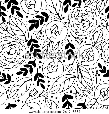 Vector seamless vintage pattern with flower. Can be used for desktop wallpaper or frame for a wall hanging or poster,for pattern fills, surface textures, web page backgrounds, textile and more. - stock vector