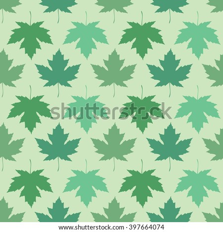 Vector seamless wallpaper. Maple leaves of different colors - stock vector
