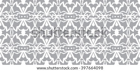 Vector seamless wallpaper. Monochrome gray white abstract pattern - stock vector