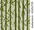 Vector seamless wallpaper with chinese bamboo trees - stock