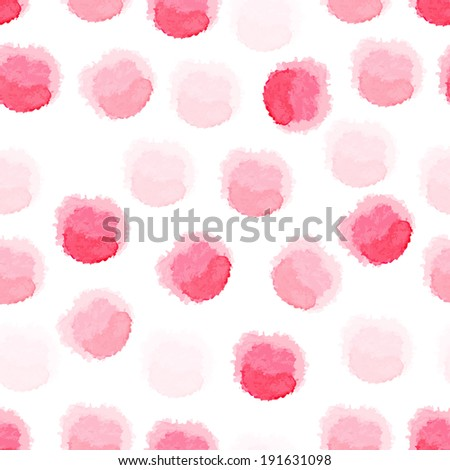 Vector seamless watercolor dots background