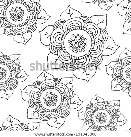 Vector seamless wave hand-drawn retro pattern. Vintage vector seamless pattern. Can be used for wallpaper, pattern fills, web page background, surface textures. Gorgeous seamless wave background - stock vector