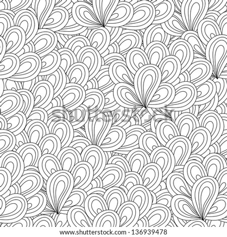 Vector seamless wave hand-drawn retro pattern. Vintage vector seamless pattern. Can be used for wallpaper, pattern fills, web page background, surface textures, prints. Gorgeous seamless background - stock vector
