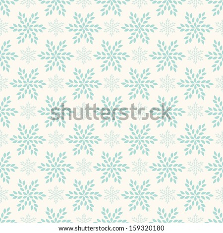 Vector seamless winter retro pattern - stock vector