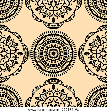 Vector seamless yellow pattern. Isolated on white - stock vector