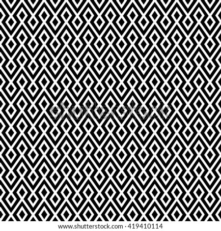 vector seamless zigzag pattern,endless texture black and white. abstract geometric ornament background.  - stock vector