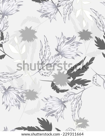 Vector Seamples Floral Flowers Pattern - stock vector