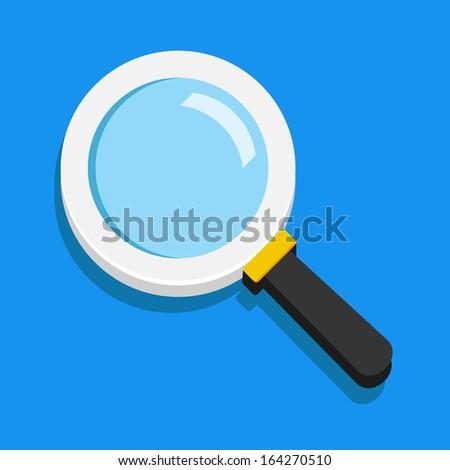 Vector Search Icon - stock vector