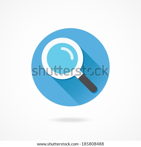 Vector Search Icon - stock vector