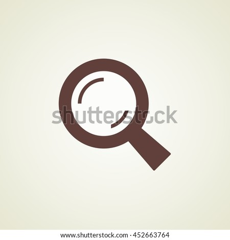 Vector Search  icon. For business / Research Information / web / Looking. Abstract symbol. Vector illustration - stock vector