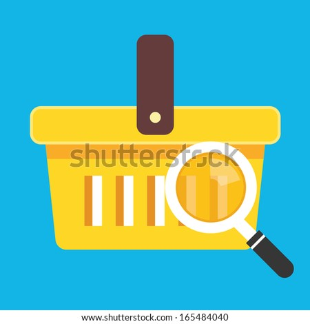Vector Search Shopping Cart Icon - stock vector