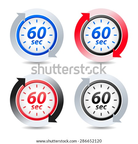Vector 60 seconds - stock vector