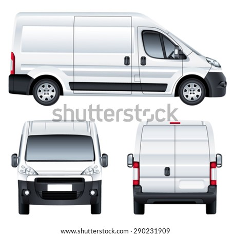 Vector service car template white blank stock vector 290231909 vector service car template white blank commercial vehicle delivery van simple gradients pronofoot35fo Choice Image