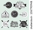 Vector Set: All Star and League Champion Labels - stock vector