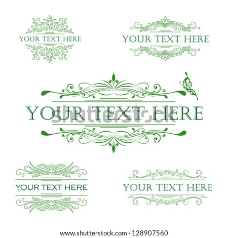 vector set: calligraphic design elements - stock vector