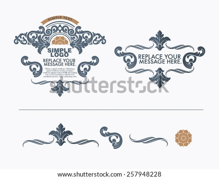 vector set: calligraphic design elements and page decoration - lots of useful elements to embellish your layout.  - stock vector