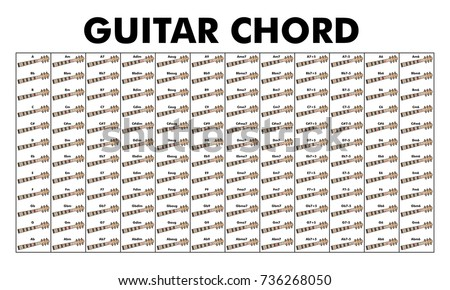 Vector Set Chord Diagram Tab Tabulation Stock Vector HD (Royalty ...
