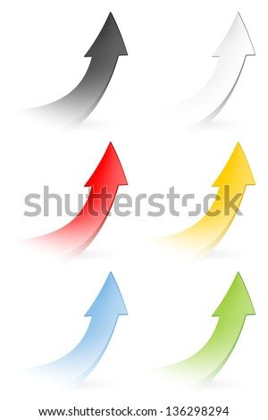 Vector set - Colorful arrows - stock vector