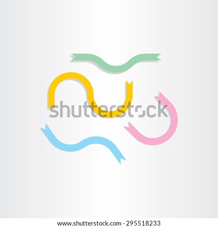 vector set eps ribbon old banner design elements