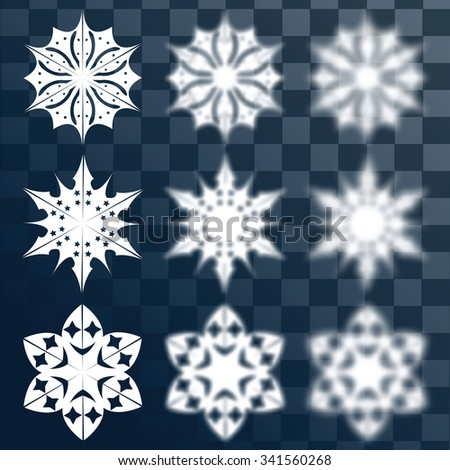 Vector set for design. Christmas balls . Blurred elements. Winter theme.Decorations for Christmas and New Year - stock vector