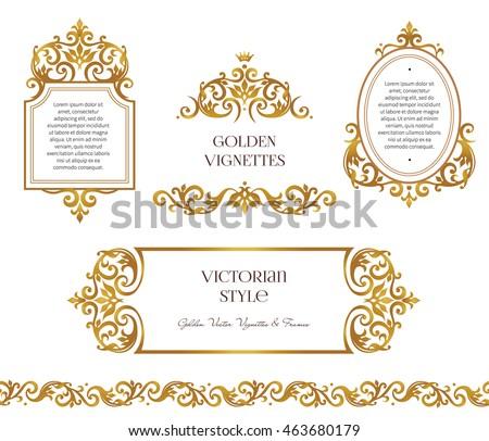 Vector Set Frames Vignette Design Template Stock Vector 463680179 Shutterstock