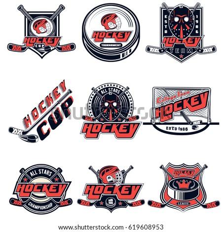 hockey logo stock images royaltyfree images amp vectors