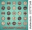 Vector Set: Holiday Labels and Icons - stock vector