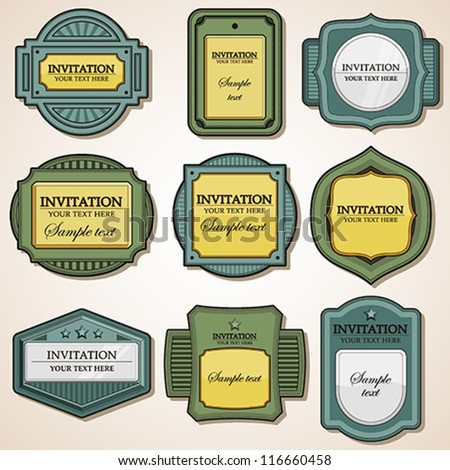 Vector Set: Labels - stock vector
