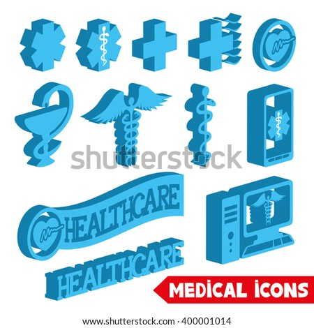 Vector set. Medical icons. - stock vector