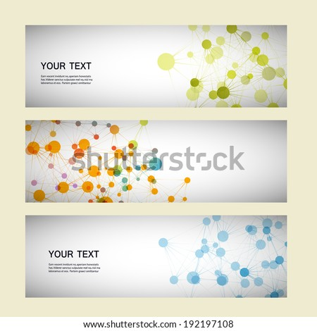 Vector set network connection eps10  - stock vector