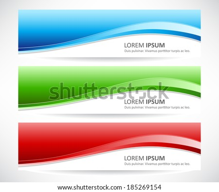 Vector set of abstract banner - stock vector