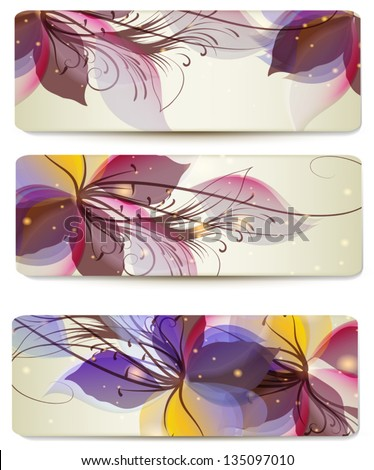 Vector set of abstract colorful backgrounds for design - stock vector