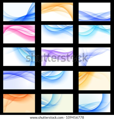 Vector set of abstract multicolored backgrounds. Jpeg version also available in gallery. - stock vector
