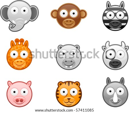 Vector Set of Animal icons 1