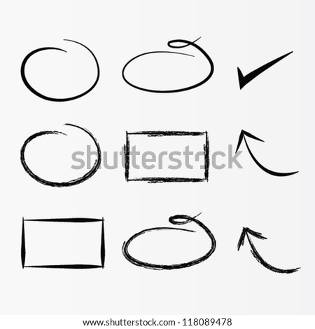Vector set of arrows - stock vector