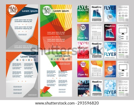 Vector Set Art Flyers Templates Brochures Vector 293596820 – Flyers Examples