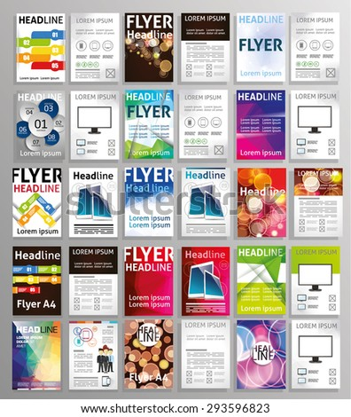 Vector Set Art Flyers Templates Brochures Stock Photo Photo Vector - Art flyers templates free