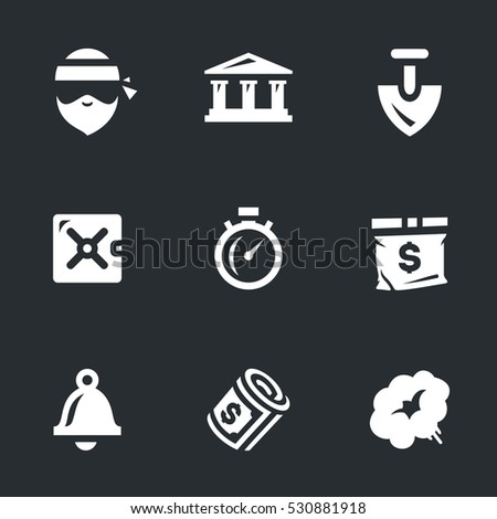 Vector Set of Bank robbery.