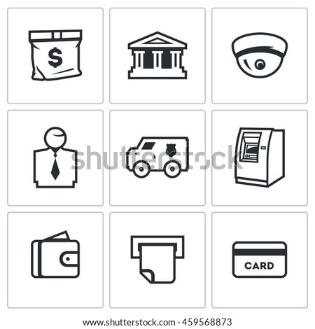 Vector Set Banking Services Icons Money Stock Vector (2018 ...